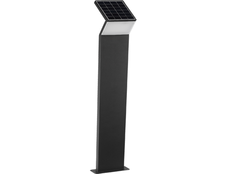 3W LED Solar bollard light with micro wave sensor 2018 new