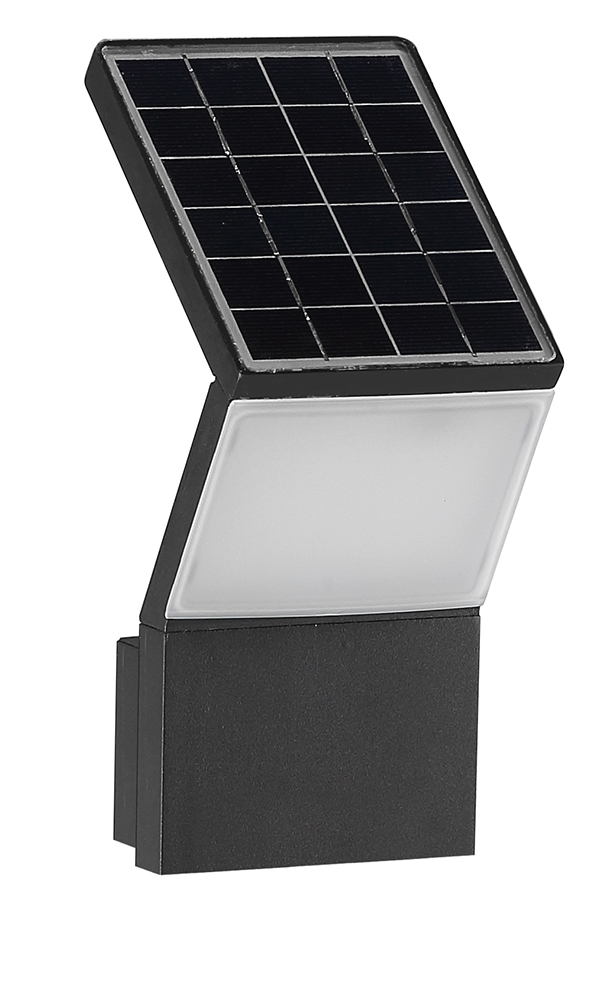 3W LED solar wall light with micro sensor 2018 new