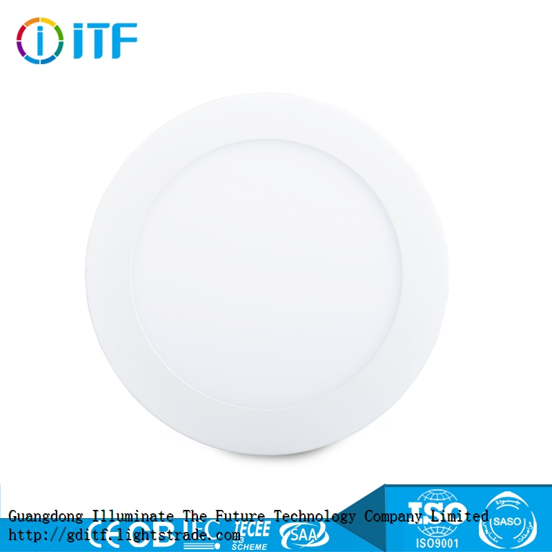 Beautiful energy-saving high beam angle SMD light source indoor round surface light LED panel light