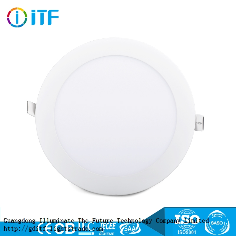 Energy savingand durable high beam angle SMD light source indoor round ceiling light LED panel light