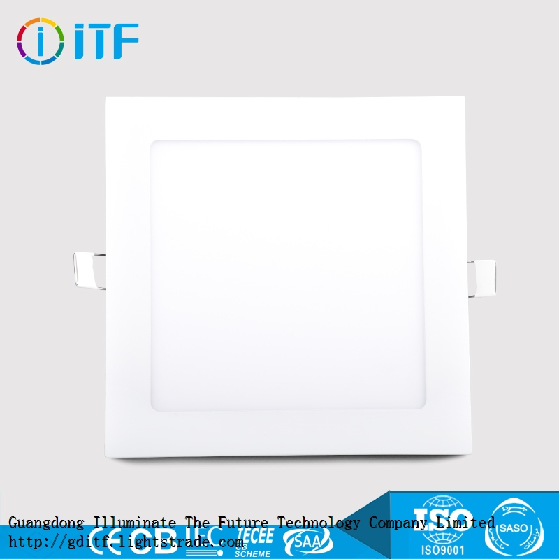 Energy-saving durable high beam angle SMD light source indoor squre ceiling light LED panel light