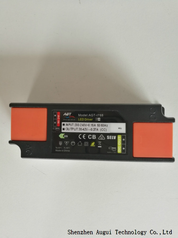 220-550mA 20W flicker constant current plastic panel driver with current adjutable by dip switch