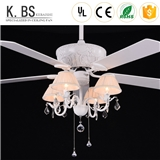 High quality Decorative&Relief resin Residential Ceiling Fan With Light