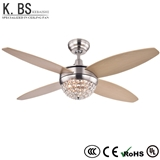 52 Inch Decorative Lighting Chandelier Simple Crystal Lamp Ceiling Fan