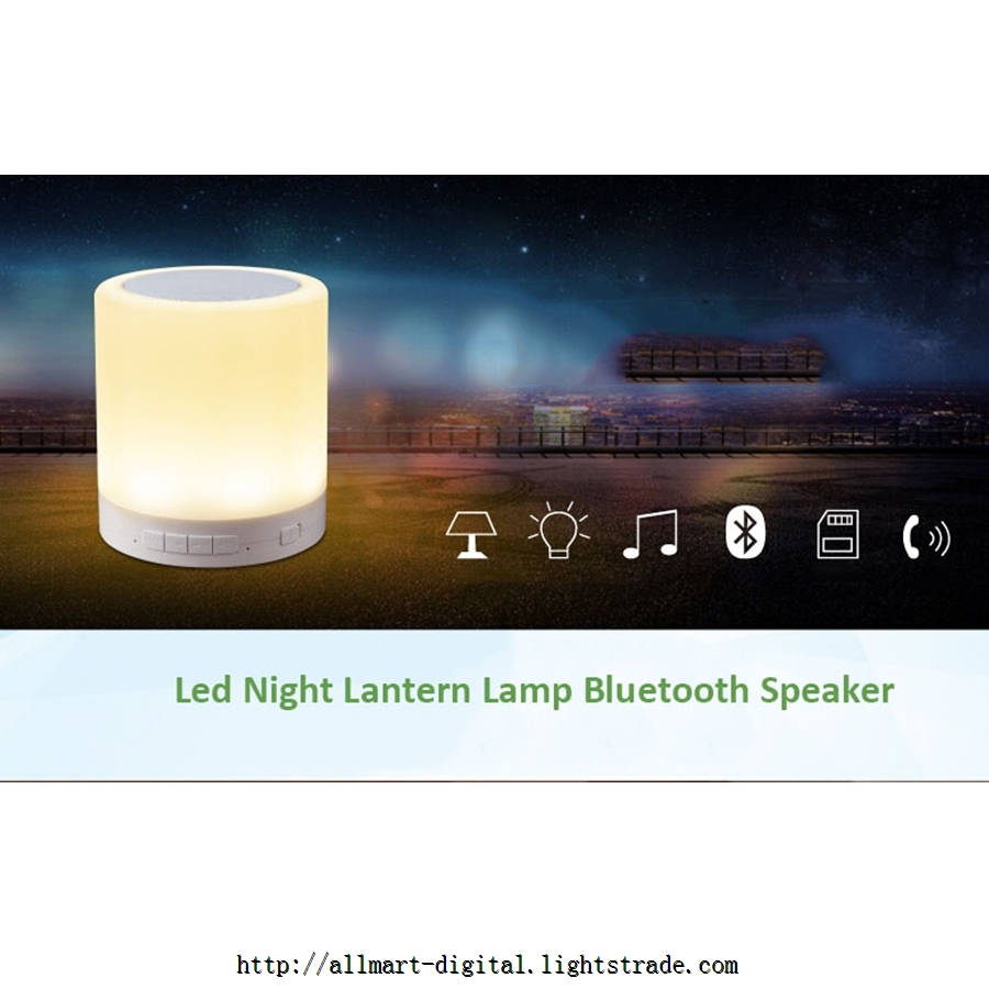 LV2015 Bluetooth speaker portable lamp with RGB LED warm white lights TF card playing music lamp