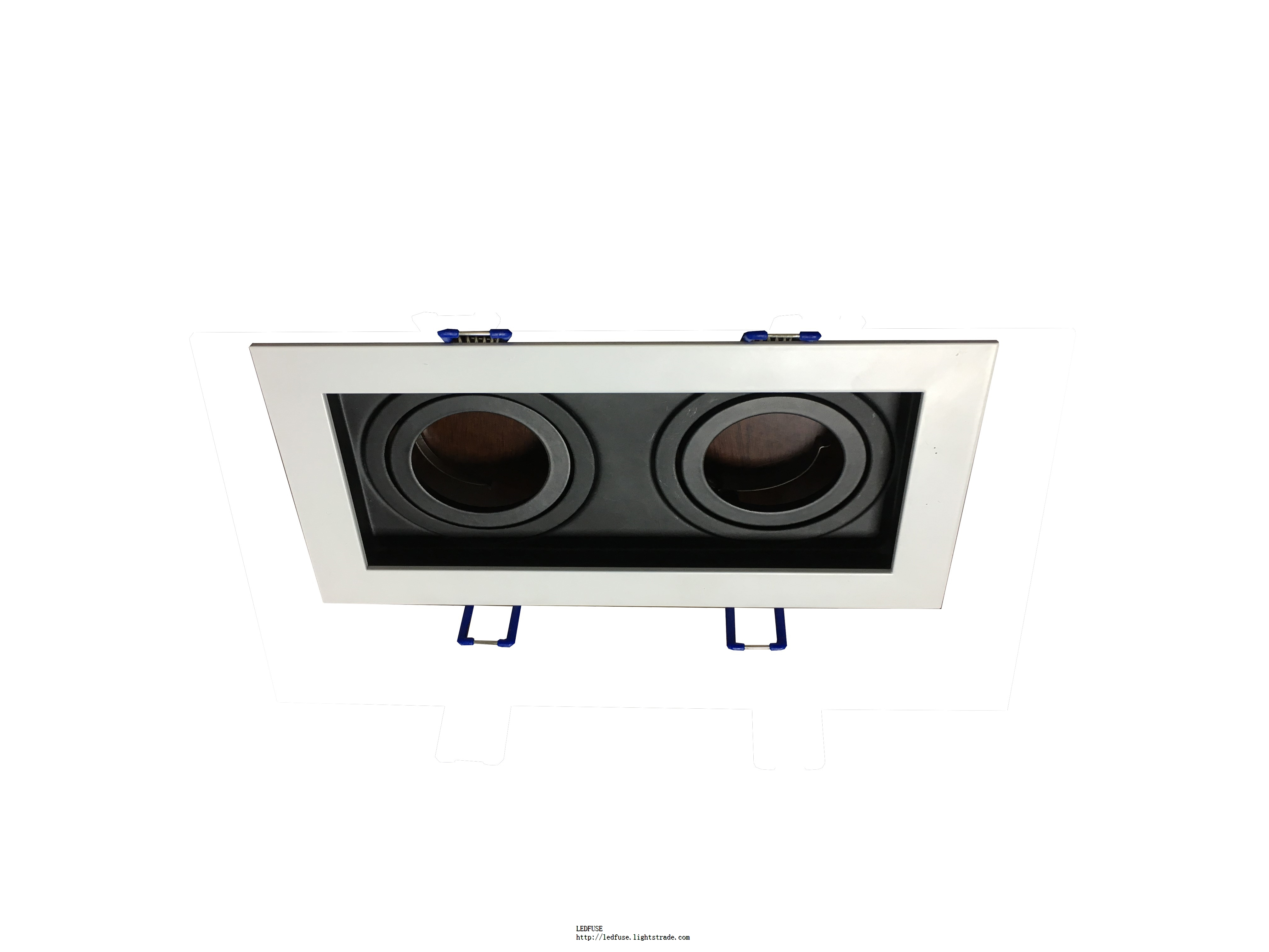 High quality led residential lighting 20w dimmable black led grille downlight