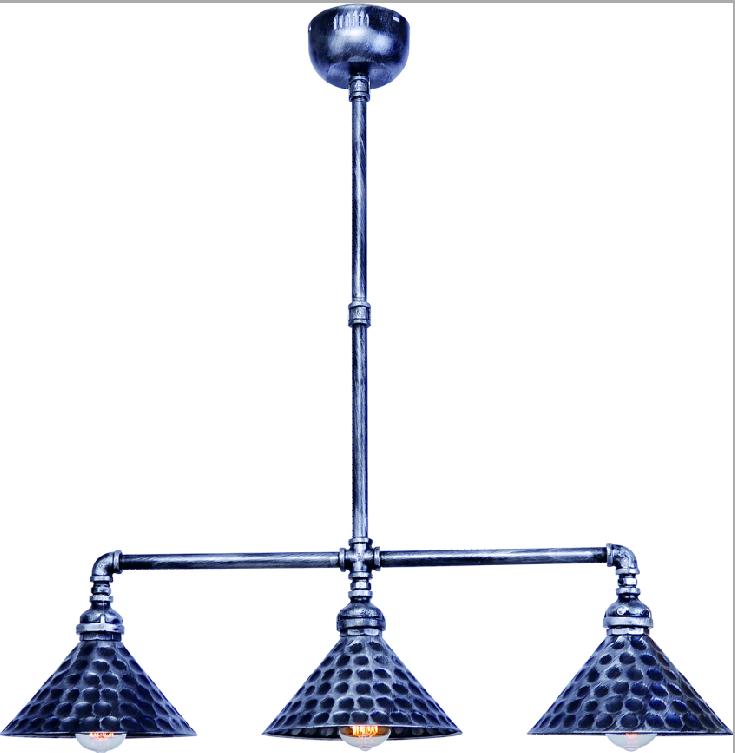 American vintage industrial chandelier