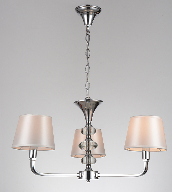European modern minimalist cloth cover chrome chandelier