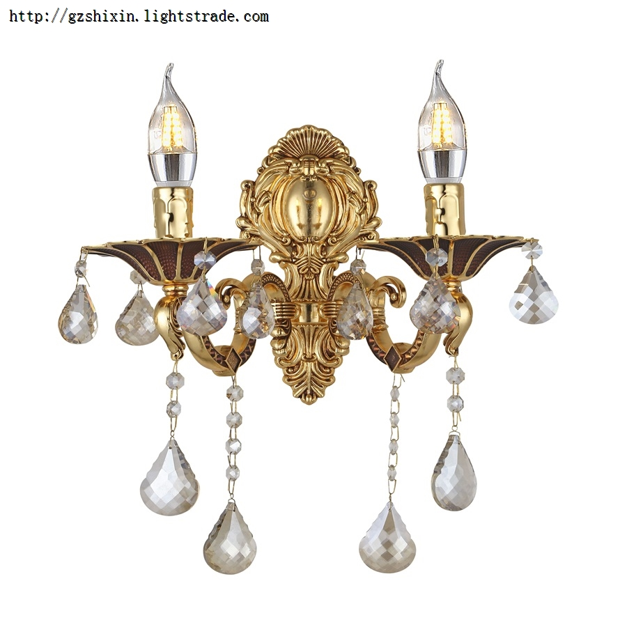 Crystal Trimmed Wall pendant Great for Bedroom Kitchen Dining Room Living Room and More