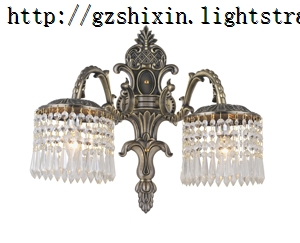 antique brass modern crystal wall lamp for hallway living room