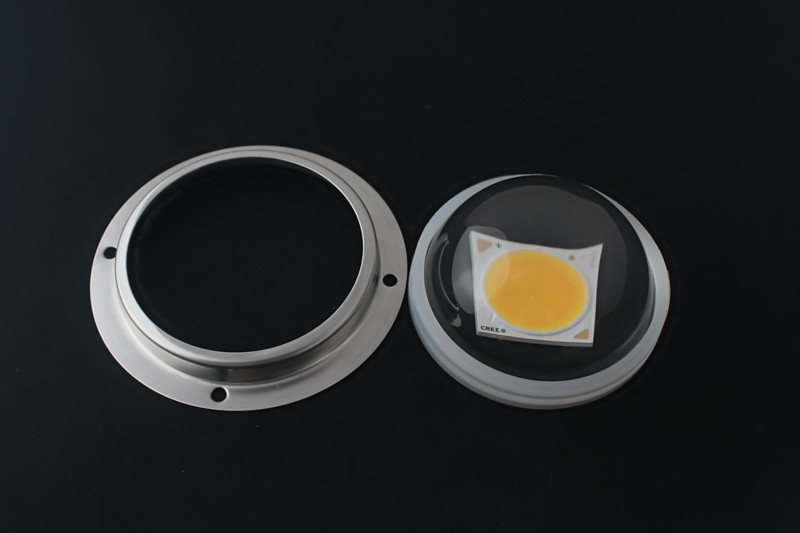 90 degree optical glass lens with fixtures for 10W-100W led high bay light diameter 78mm