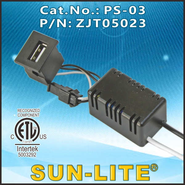 USB CHARGER FOR TABLE LAMP INTERNAL KIT PS-03