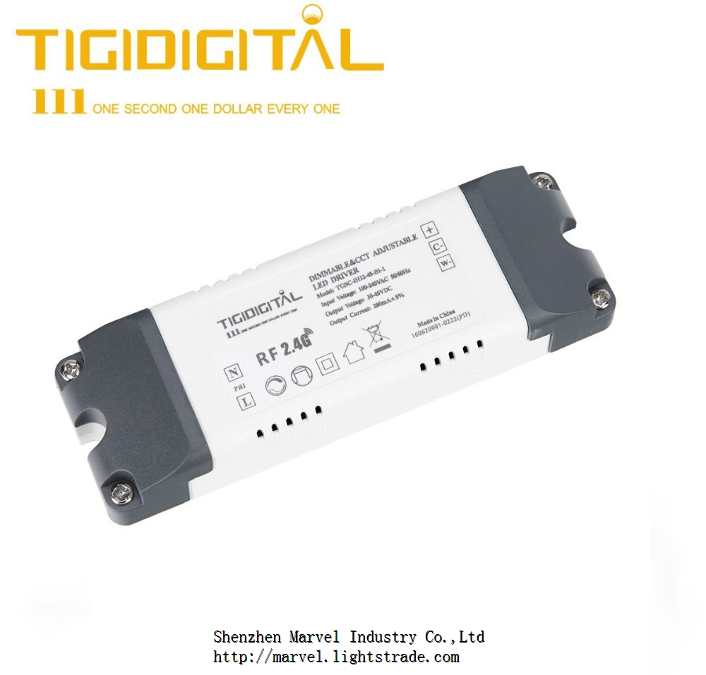 24g Wireless Cct And Dimmable Led Driver 150ma 280ma Output 6w2 Tri Color Circuit New 12w