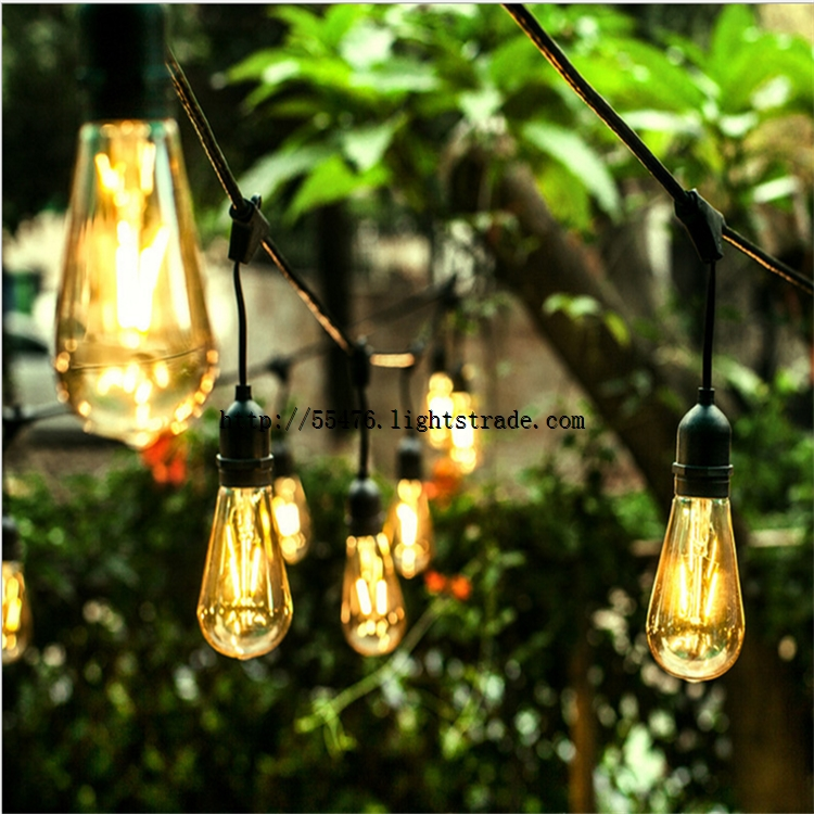 E27 outdoor string lights with waterproof Euro