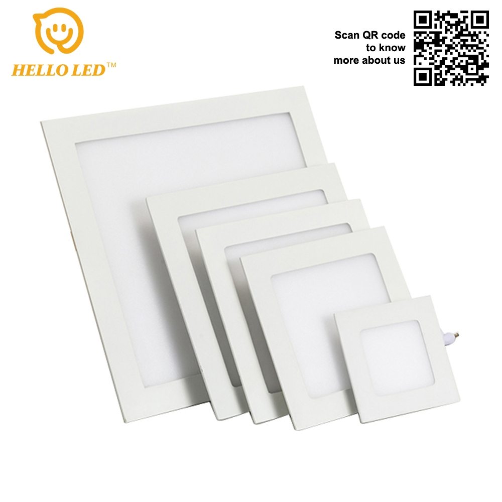 NH-81 China Factory Cut Hole 7 inch Square recessed light 18W Panel light