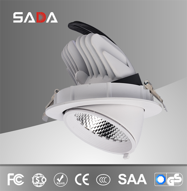 Rotatable led gimble light for commercial