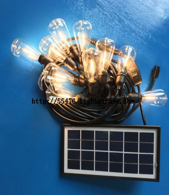 Solar Powered String Lights Set 3V 12V LED Bulbs and Solar Panel Included Warm White RGB Solar LED S