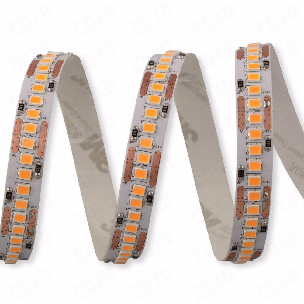 Flexible DC 12V 24V 240 led per meter 2835 240pcs led strip lights