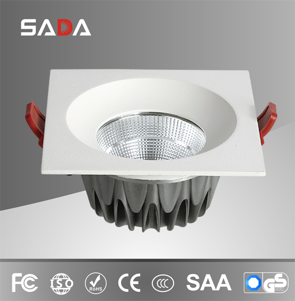 Square project white high luminus downlight