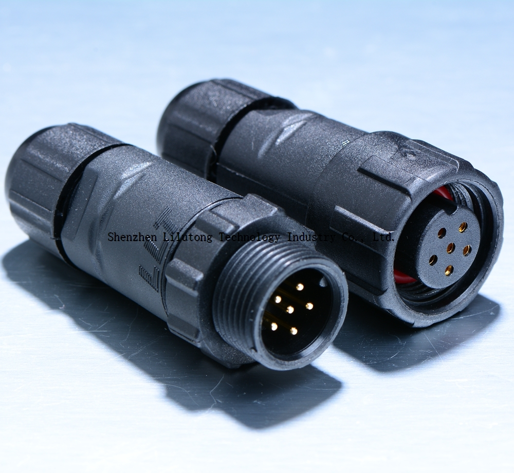LLT M14 6 pin electrical waterproof connector