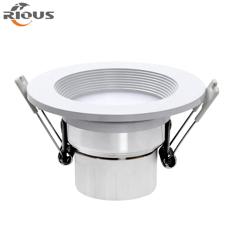 white warm white High lumens IP20 painted Led light downlight for business market mall lighting