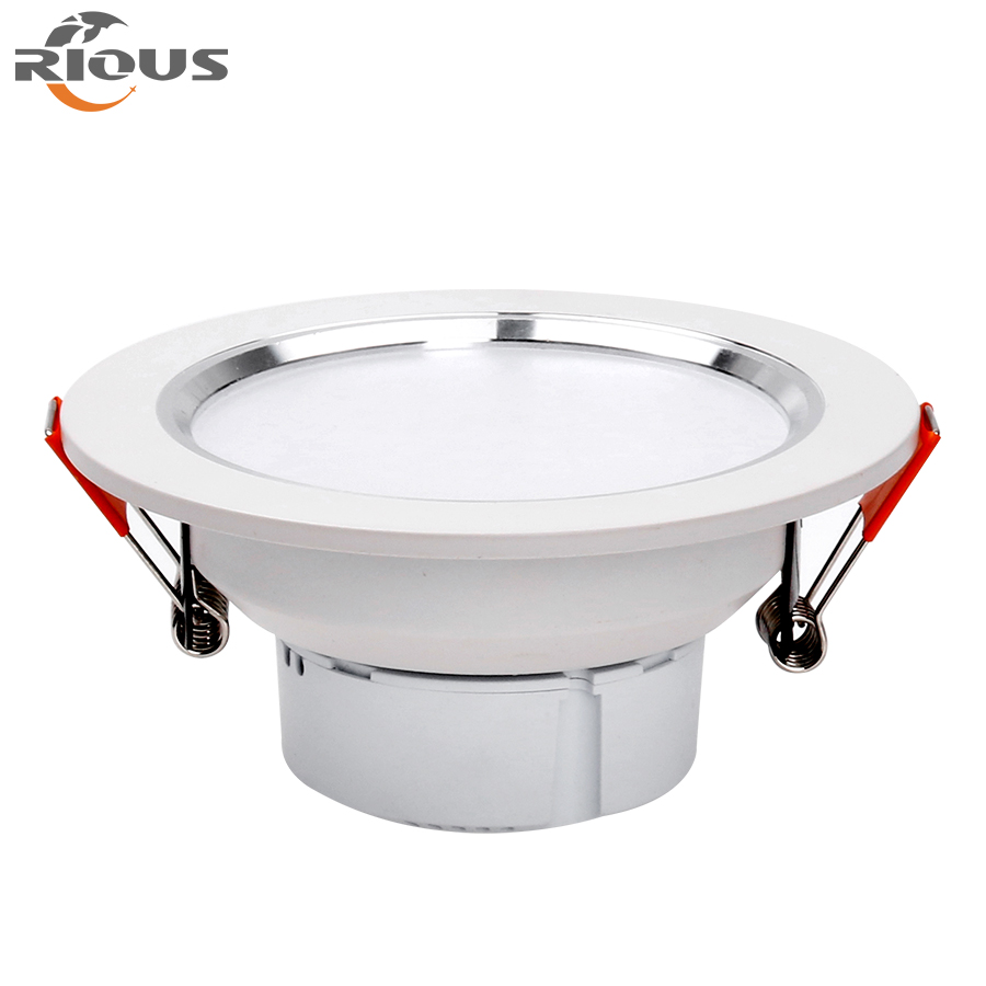SMD5730 AC85-265V pc cover and full aluminum body painted Led downlight
