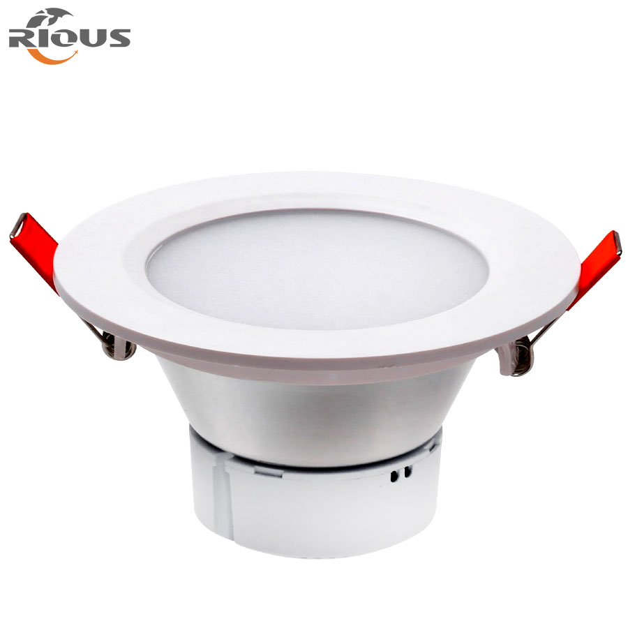Factory price High lumens 3W5W CCC FCC CE Rohs certification plastic Led downlight for library