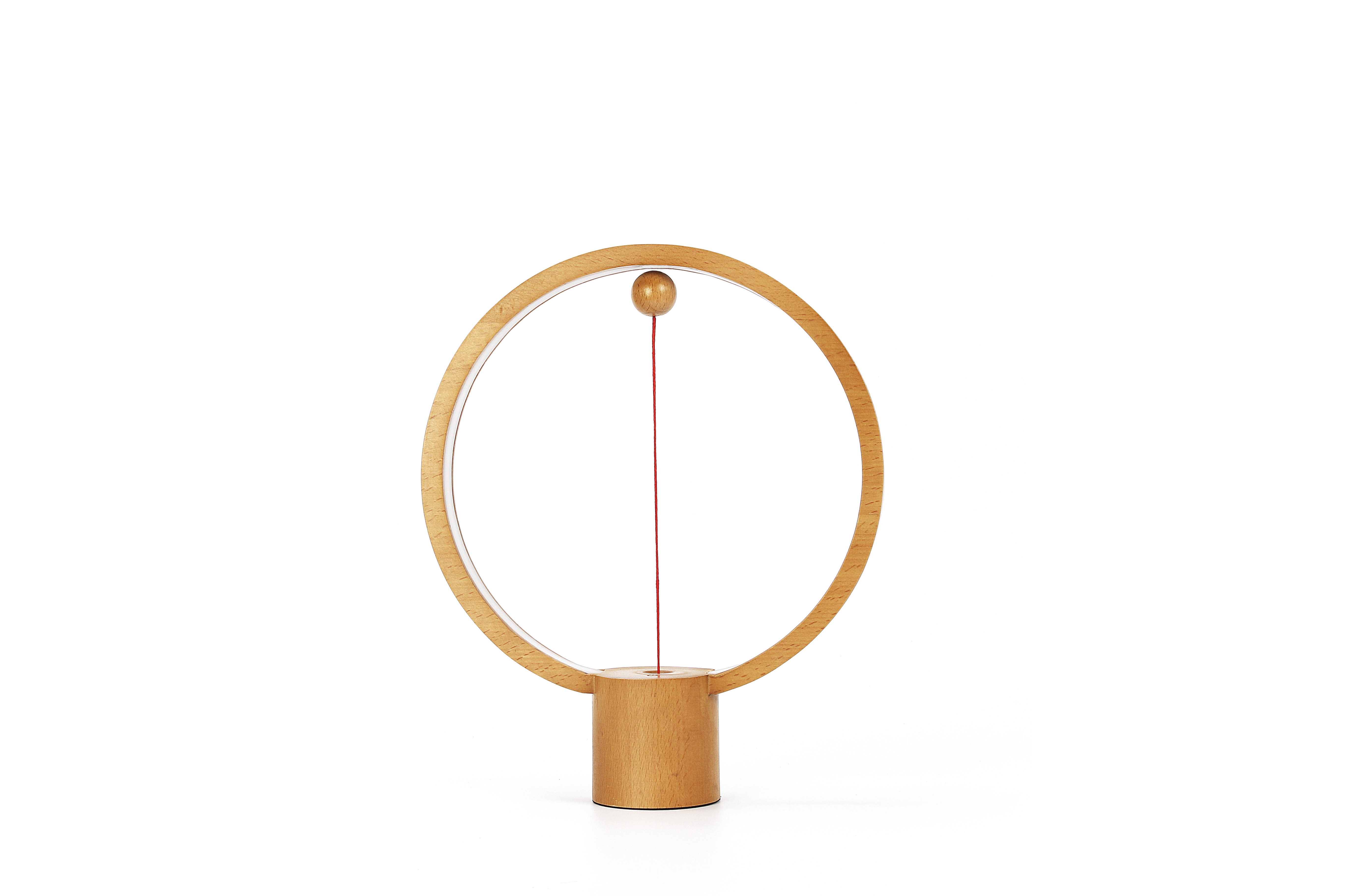 Remote control switch wooden table lamp