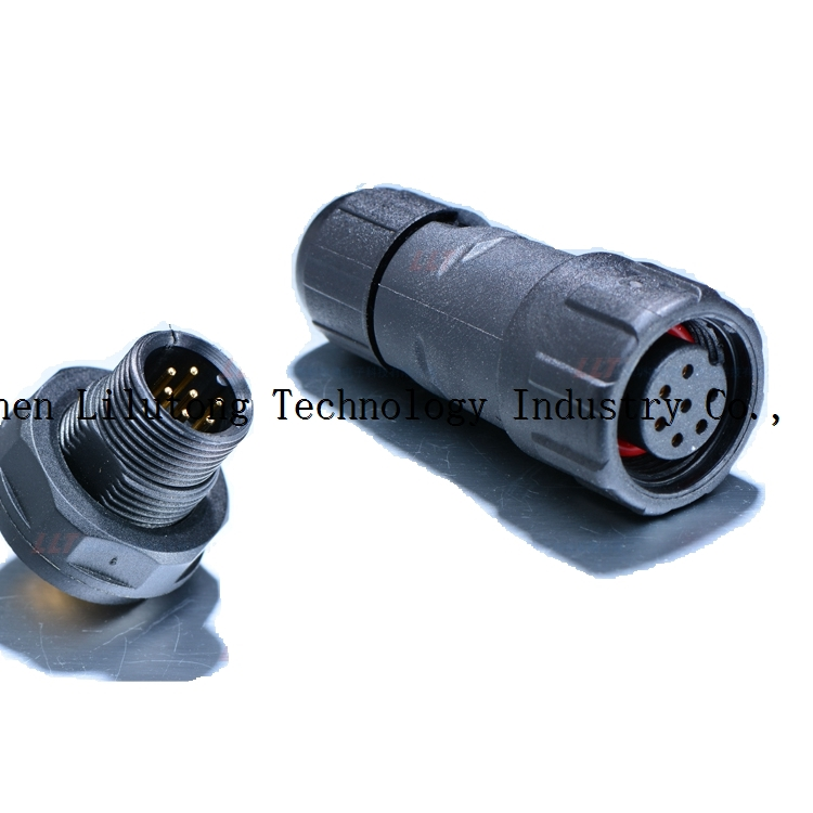 M14 7 pin front panel mount waterproof connector