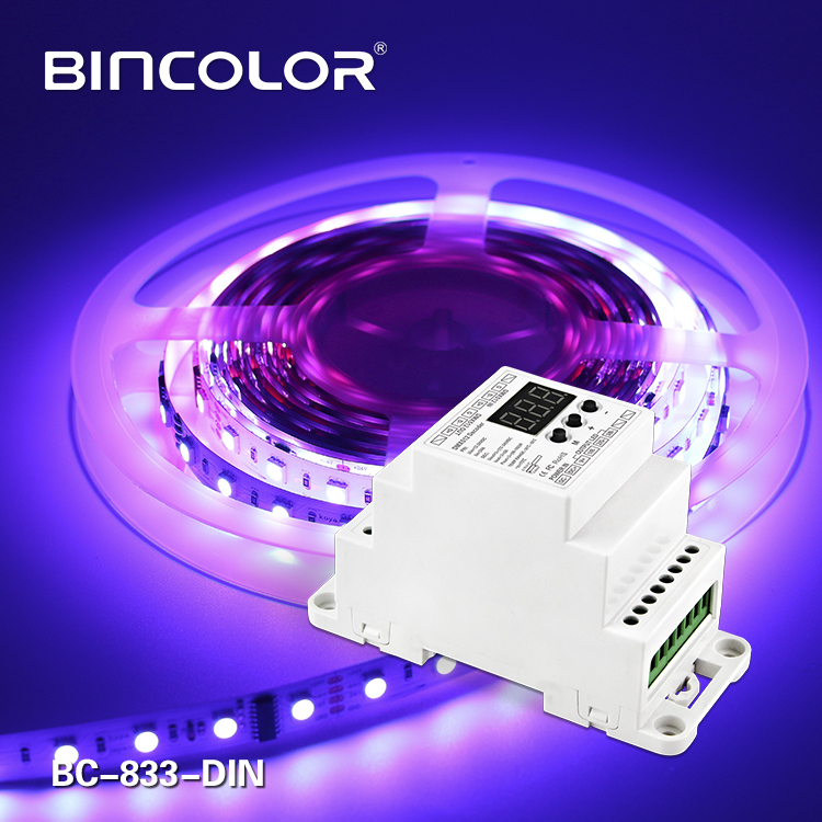 DIN Rail DMX512 Constant Voltage Decoder