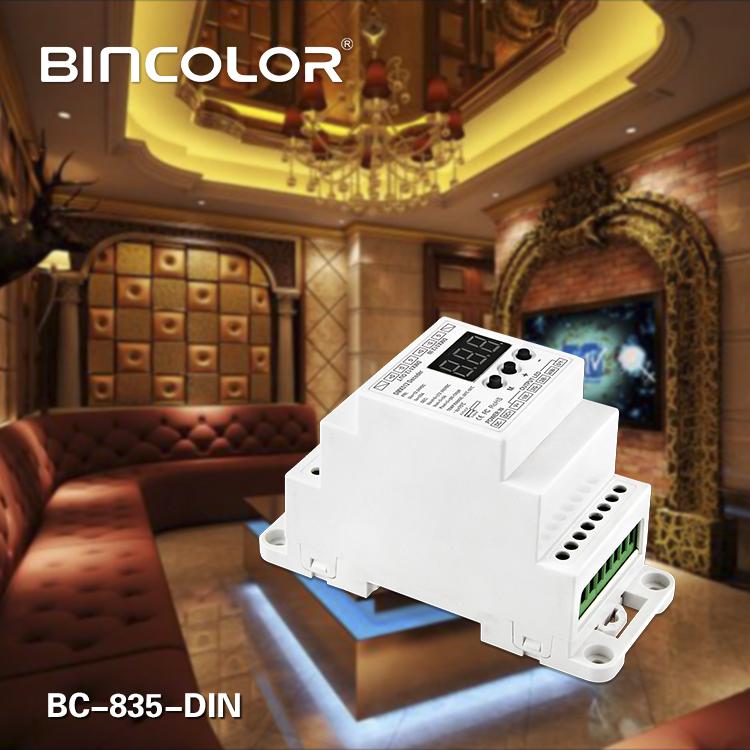 DIN Rail DMX512 Constant Voltage Decoder 5CH
