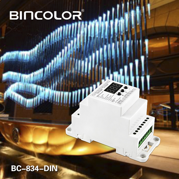 DIN Rail DMX512 Constant Voltage Decoder 4CH