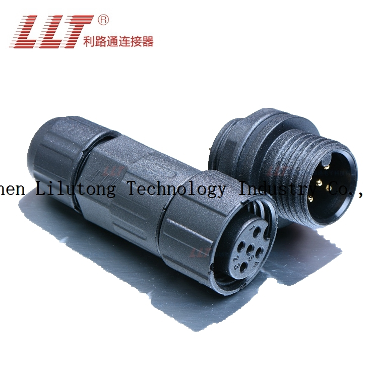 Hot sale m16 5 pin rear panel mount circular electrical waterproof led connector