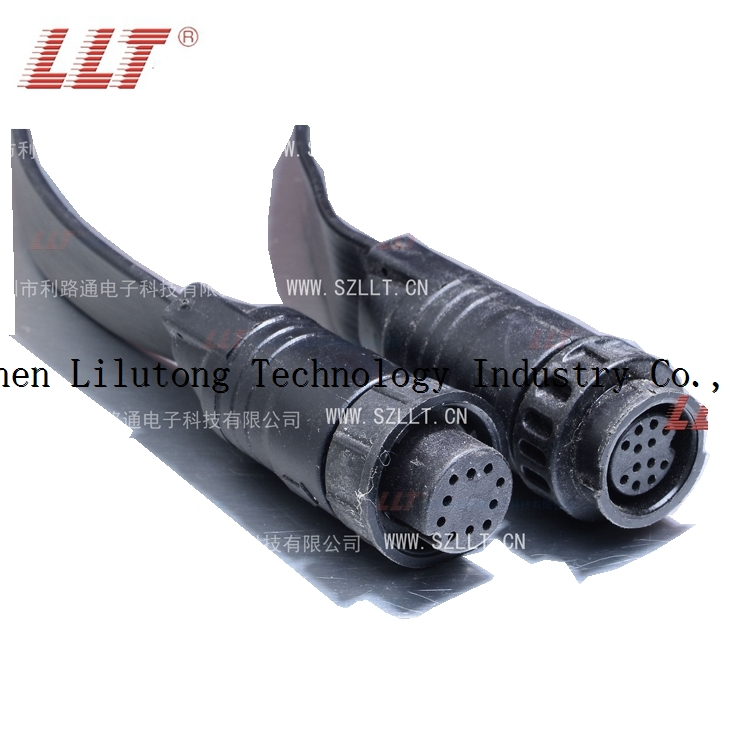 m19 10pin quick connect circular plastic connector waterproof