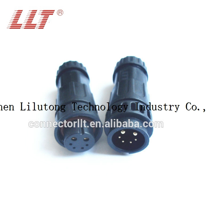 2+4 pin auto led waterproof cable connector for street light