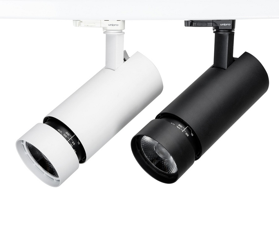 30W Zoomable track lighting 15-45 degree