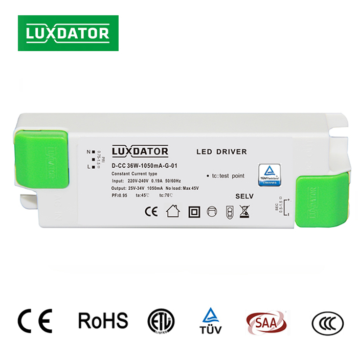 24-42W 500-1200mA flicker free Constant current led driver for panel light