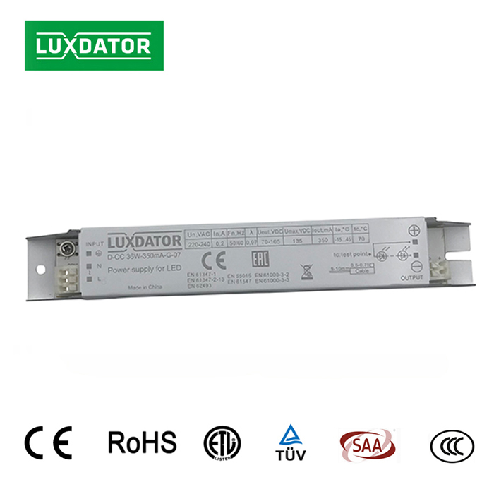 TUV ENEC certified no flicker high efficiency constant current led driver linear light power supply