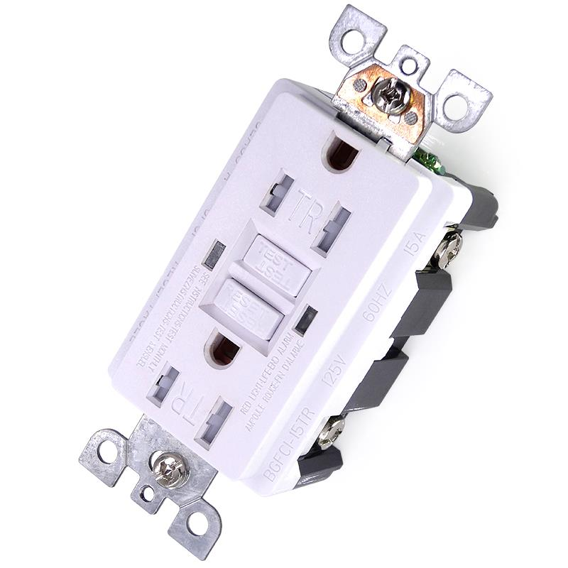 15 Amp 125 Volt GFCI Outlet Receptacle With Safety Shutter