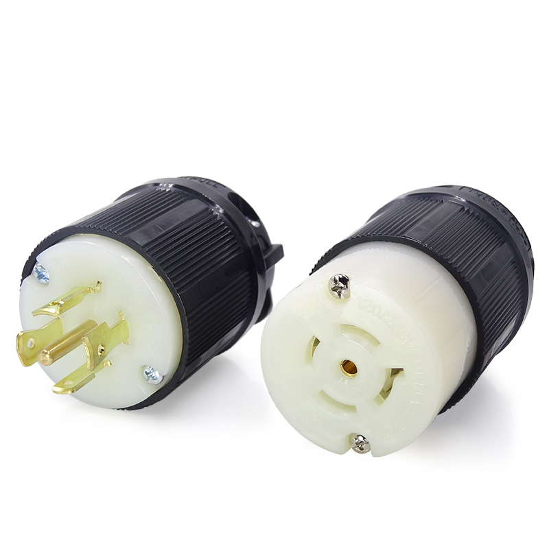 20A 120 208V NEMA BL2120 Grounding Locking Plug 4Pole5Wire Bosslyn Brand