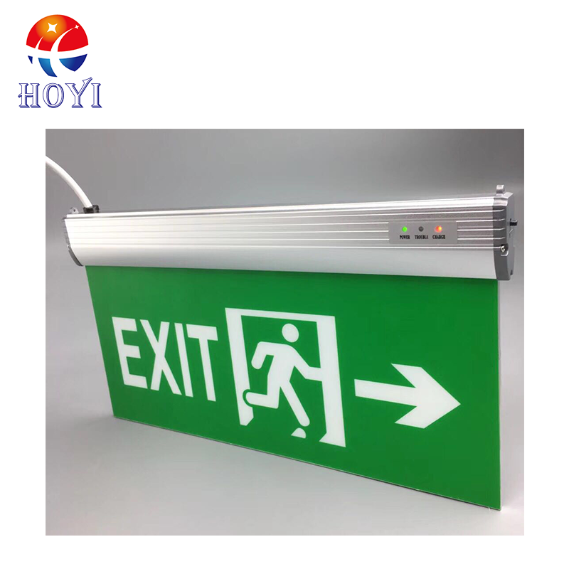 Pending mounted Emergency Exit Sign Light