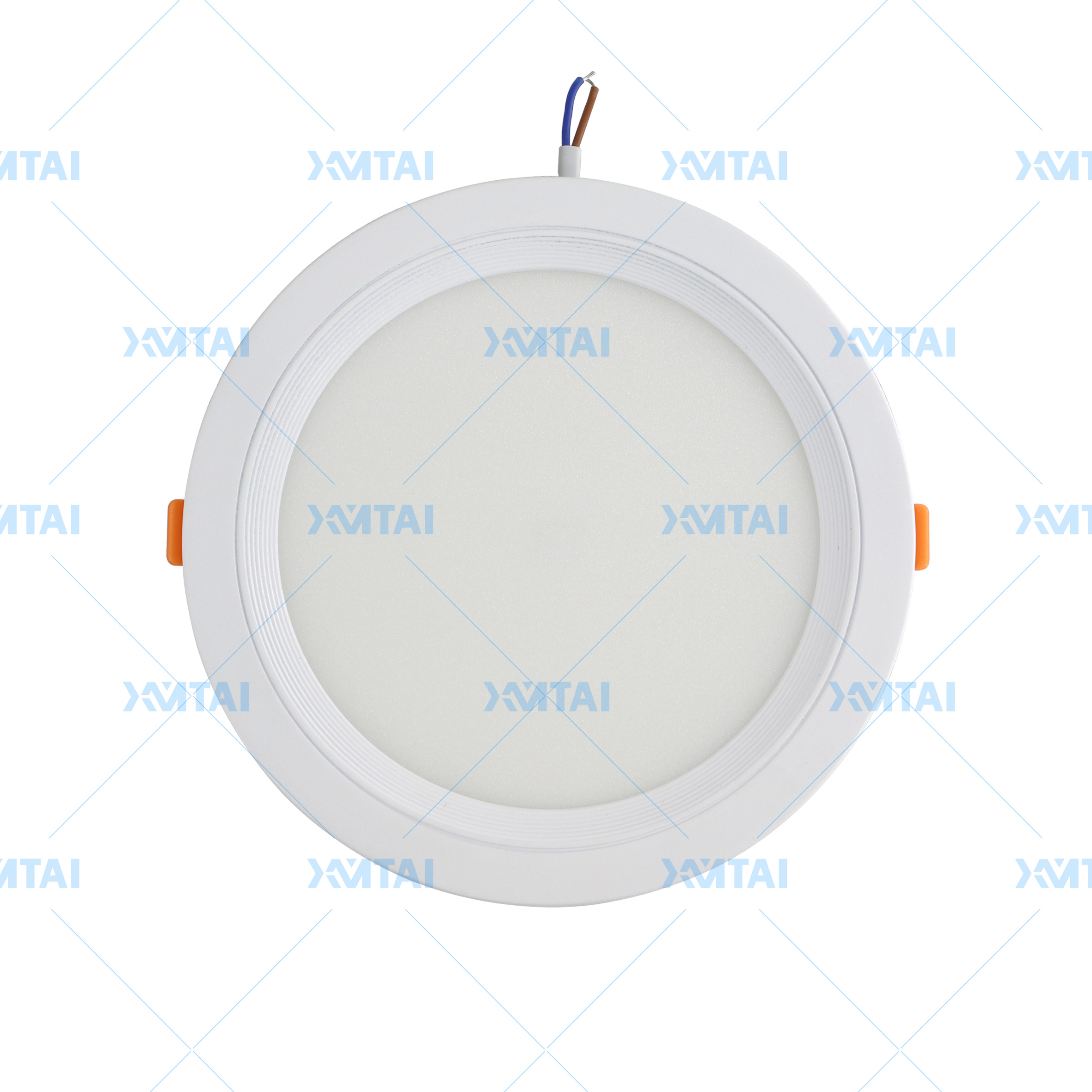 led panel light of plastic surface and slim round