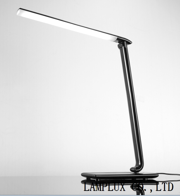 Black LED desk lamp