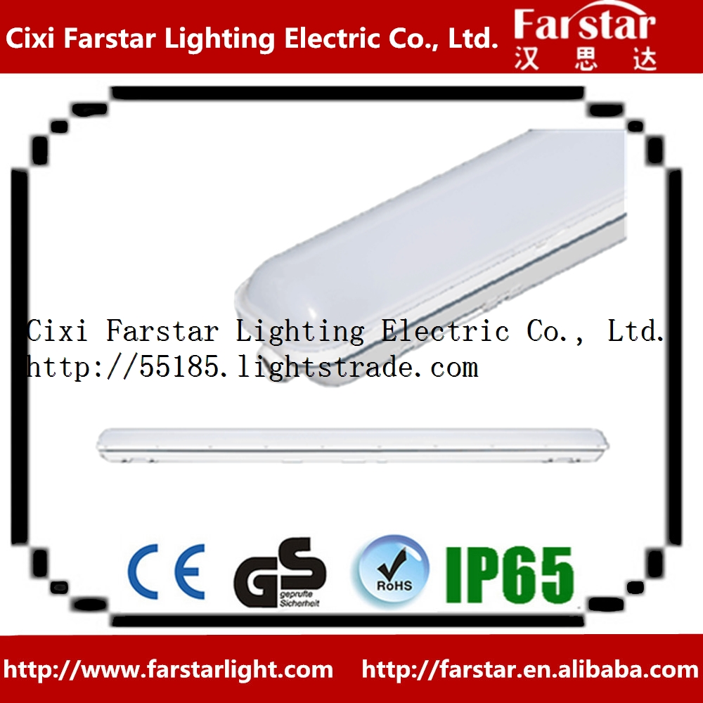 IP65 LED waterproof luminaire lighting fixture with LED strip
