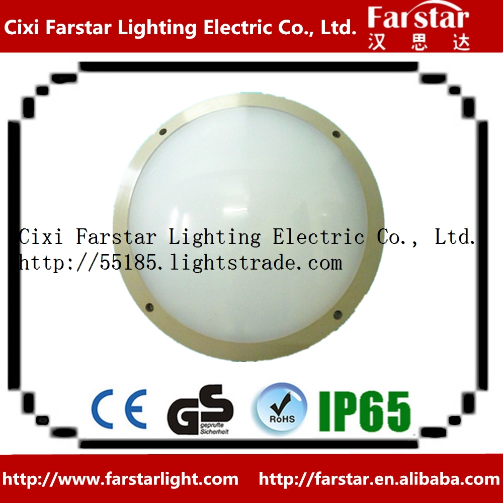 Rund LED panel lighting IP65 round plastic LED panel lighting