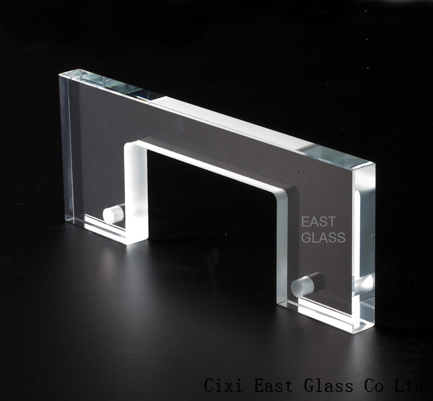 Water jet cutting extra clear glass polished edge glass EG603