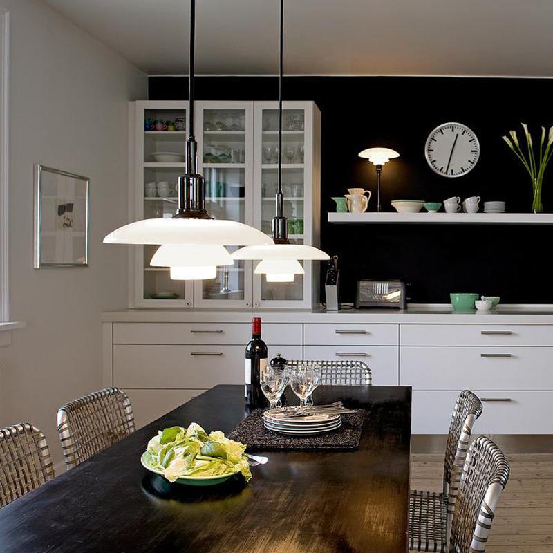 PH3 glass chandelier Nordic restaurant light