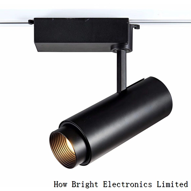 Aluminum Commercial Lighting Zoomable COB LED Track Light