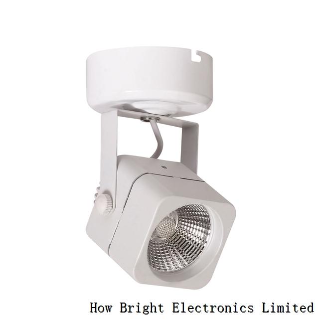 Black White COB 640lm 8W Aluminum Led Track Light