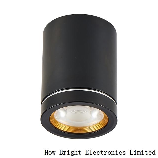 Aluminium Black 7W 9W 12W Indoor Illumination Surface Mounted Light led Downlight